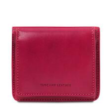 Portofel dama din piele naturala fucsia Tuscany Leather