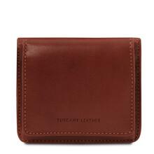 Portofel dama din piele naturala maro Tuscany Leather