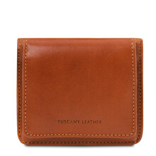 Portofel dama din piele naturala honey Tuscany Leather
