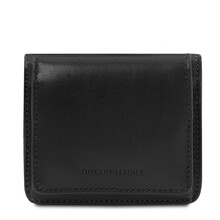 Portofel dama din piele naturala neagra Tuscany Leather