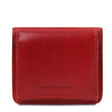 Portofel dama din piele naturala rosie Tuscany Leather