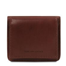 Portofel dama din piele naturala maro inchis Tuscany Leather