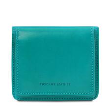 Portofel dama din piele naturala turcoaz Tuscany Leather