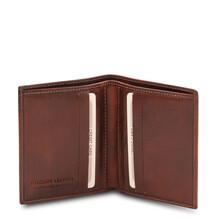 Portofel barbati din piele naturala maro, Tuscany Leather