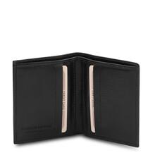 Portofel barbati din piele naturala neagra, Tuscany Leather