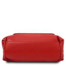 Geanta dama din piele naturala Tuscany Leather, rosu aprins, TL Bag