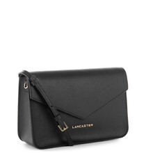 Plic dama din piele Lancaster Saffiano Signature, negru 527-08-2