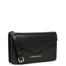 Plic dama din piele neagra Lancaster Saffiano Signature 527-29-2