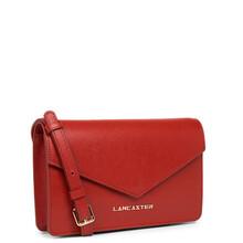 Plic dama din piele rosie Lancaster Saffiano Signature 527-29-2