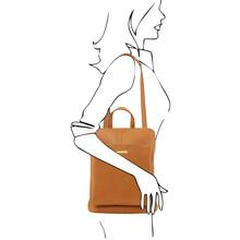 Rucsac dama din piele naturala Tuscany Leather, sampanieS
