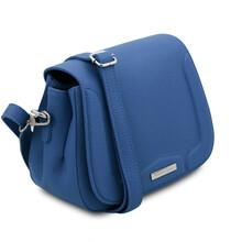 Geanta dama din piele naturala albastra, Tuscany Leather, Jasmine