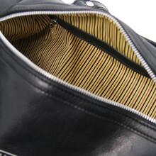 Geanta de mana, din piele naturala neagra, Tuscany Leather, Lucrezia