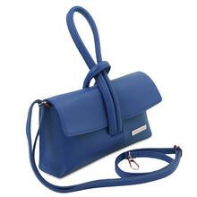 Plic dama din piele naturala albastra Tuscany Leather