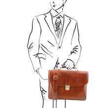 Geanta laptop Tuscany Leather din piele honey Alessandria