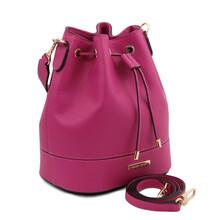 Geanta dama din piele naturala fucsia Tuscany Leather, TL Bag