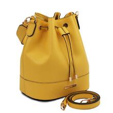 Geanta dama din piele naturala galbena Tuscany Leather, TL Bag