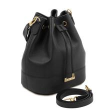 Geanta dama din piele naturala neagra Tuscany Leather, TL Bag