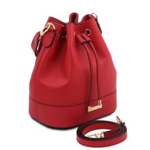 Geanta dama din piele naturala rosu aprins Tuscany Leather, TL Bag