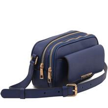 Borseta dama din piele naturala albastru inchis, Tuscany Leather, TL Bag