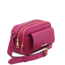 Borseta dama din piele naturala fucsia, Tuscany Leather, TL Bag