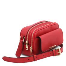 Borseta dama din piele naturala rosu aprins, Tuscany Leather, TL Bag