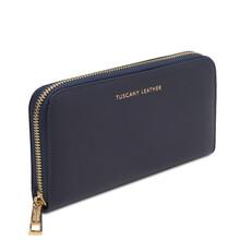 Portofel dama din piele naturala albastru inchis, Tuscany Leather, Venere