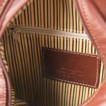Rucsacel dama din piele naturala Tuscany Leather, maro inchis, ShanghaiS