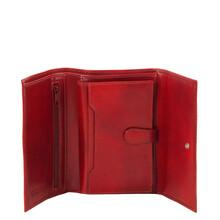 Portofel dama din piele naturala Tuscany Leather, rosu