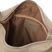 Rucsac dama convertibil in geanta, din piele grej deschis, Tuscany LeatherS