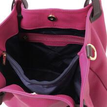 Geanta dama, din piele naturala fucsia, Tuscany Leather, TL KeyLuck