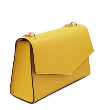 Plic dama din piele naturala galbena, Tuscany Leather, Fortuna