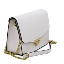 Plic dama din piele naturala saffiano alba, Tuscany Leather, TL Bag