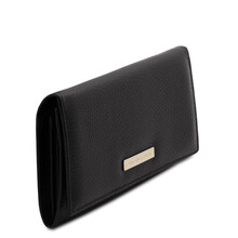 Portofel dama din piele naturala neagra, Tuscany Leather, Nefti