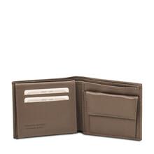 Portofel barbatesc piele naturala grej inchis Tuscany Leather