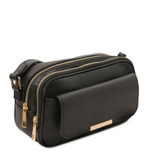Borseta dama din piele naturala neagra, Tuscany Leather, TL Bag