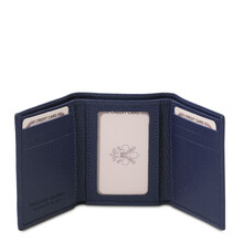 Portofel barbatesc din piele naturala albastru inchis Tuscany Leather