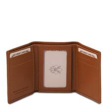 Portofel barbatesc din piele naturala coniac Tuscany Leather
