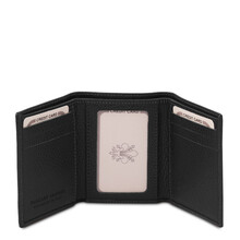 Portofel barbatesc din piele naturala neagra Tuscany Leather