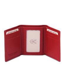 Portofel barbatesc din piele naturala rosie Tuscany Leather