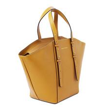 Geanta dama piele naturala galbena Tuscany Leather, TL Bag tote