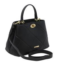 Geanta dama piele naturala neagra Tuscany Leather, TL Soft
