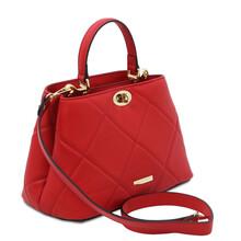 Geanta dama piele naturala rosu aprins Tuscany Leather, TL Soft