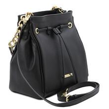 Geanta dama din piele naturala neagra Tuscany Leather, TL Bag Soft