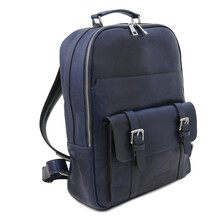 Rucsac laptop piele naturala albastru inchis Tuscany Leather, Nagoya