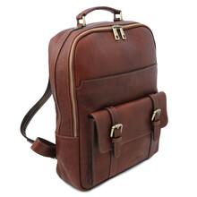 Rucsac laptop piele naturala maro Tuscany Leather, Nagoya