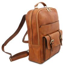 Rucsac laptop piele naturala honey Tuscany Leather, Nagoya