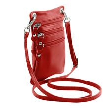 Geanta piele naturala Tuscany Leather, rosie, Minicross