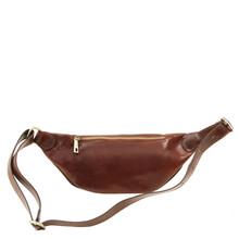 Borseta barbateasca din piele naturala Tuscany Leather, maro inchis