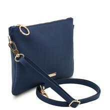 Plic dama din piele naturala albastru inchis, Tuscany Leather, TL Bag Soft