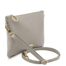 Plic dama din piele naturala gri, Tuscany Leather, TL Bag Soft